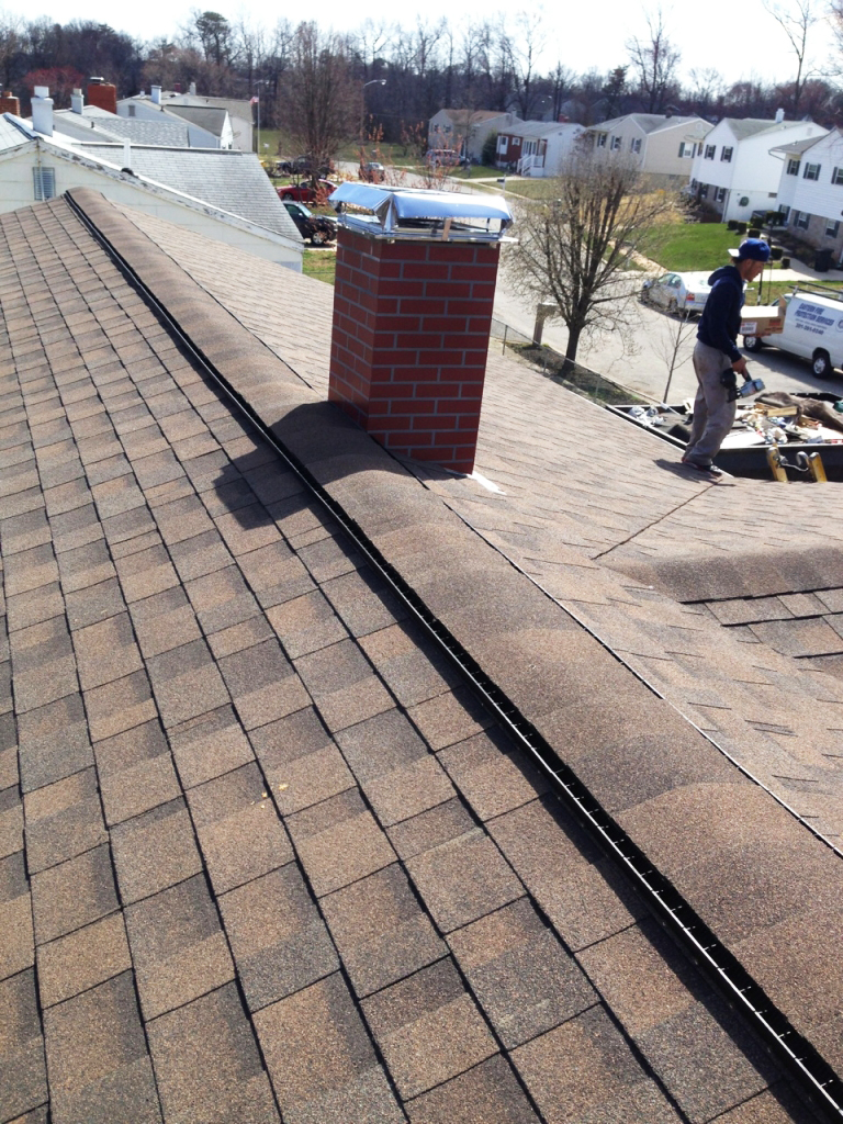Roof Replacement with Ridge Vent in Dundalk, MD.