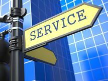 Business Concept. Service Sign on Blue Background..jpeg
