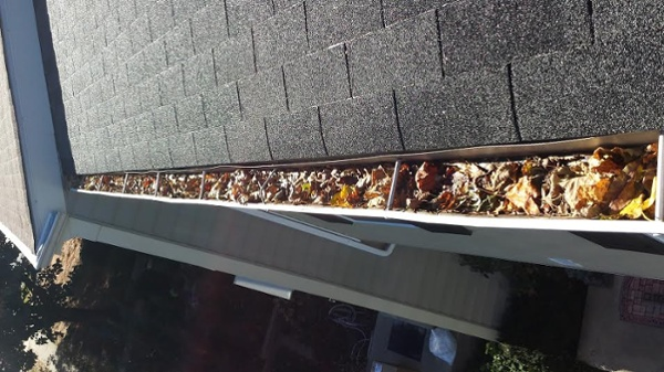 Gutter Cleaning Before in Hunt Valley, MD